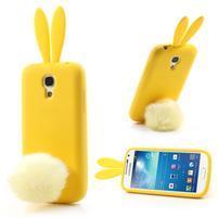 Silikonový obal na Samsung Galaxy S4 mini - žlutý králík