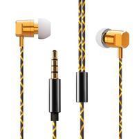 W02 MegaBass handsfree sluchátka - zlatá/černá