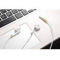 Lably handsfree sluchátka s podporou basů - bílá/zlatá