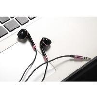 Lably handsfree sluchátka s podporou basů - černá/růžová