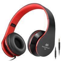 Fashion60 flexibilní uzavřená sluchátka s handsfree - černá/červená