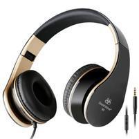 Fashion60 flexibilní uzavřená sluchátka s handsfree - černá/zlatá