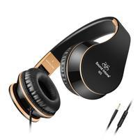 Fashion65 bassová flexi uzavřená sluchátka s handsfree - černá