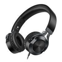 Pic9 náhlavní sluchátka s handsfree jack 3.5 mm - černá