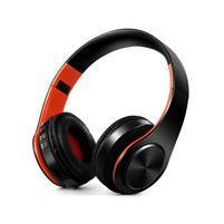 Fold náhlavní bluetooth sluchátka - černá/oranžová