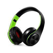 Fold náhlavní bluetooth sluchátka - černá/zelená