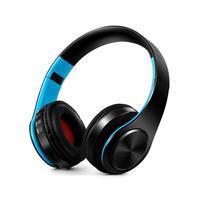 Fold náhlavní bluetooth sluchátka - černá/modrá