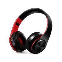 Fold náhlavní bluetooth sluchátka - černá/červená