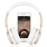 BT08 multifunkční bluetooth sluchátka s mikrofonem - bílá/zlatá