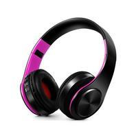 Fold náhlavní bluetooth sluchátka - černá/rose