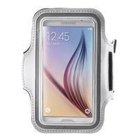 Fittsport pouzdro na ruku pro mobil do rozměrů 143.4 x 70,5 x 6,8 mm - bílé