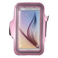 Fittsport pouzdro na ruku pro mobil do rozměrů 143.4 x 70,5 x 6,8 mm - růžové