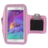 Gym běžecké pouzdro na mobil do rozměrů 153.5 x 78.6 x 8.5 mm - růžové