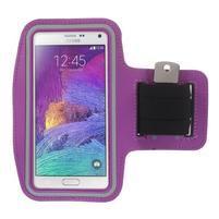 Gym běžecké pouzdro na mobil do rozměrů 153.5 x 78.6 x 8.5 mm - fialové