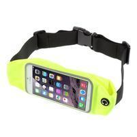 Sportovní kapsička přes pas na mobily do rozměrů 149 x 75 mm - zelené