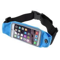 Sportovní kapsička přes pas na mobily do rozměrů 149 x 75 mm - modré
