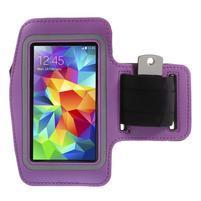 Run běžecké pouzdro na mobil do velikosti 131 x 65 mm - fialové