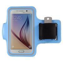 Gyms pouzdro na běhání pro mobily do 143 x 70 mm - světle modré