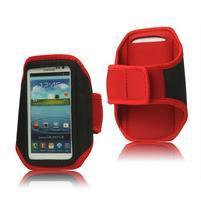 Fitness sportovní pouzdro na mobil (140 x 75 mm) - červené