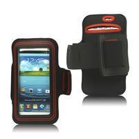 Fitness sportovní pouzdro na mobil (140 x 75 mm) - černé/červené