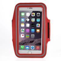 Soft pouzdro na mobil vhodné pro telefony do 160 x 85 mm - červené