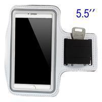 Běžecké pouzdro na ruku pro mobil do velikosti 152 x 80 mm - bílé