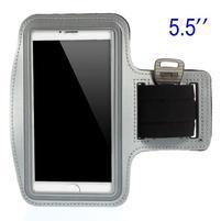 Běžecké pouzdro na ruku pro mobil do velikosti 152 x 80 mm - šedé