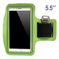 Běžecké pouzdro na ruku pro mobil do velikosti 152 x 80 mm - zelené