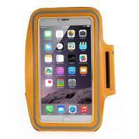 Soft pouzdro na mobil vhodné pro telefony do 160 x 85 mm - oranžové