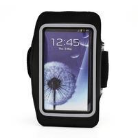 Športové puzdro na ruku až do veľkosti mobilu 140 x 70 mm - čierne