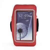 Sportovní pouzdro na ruku až do velikosti mobilu 140 x 70 mm - červené
