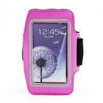 Sportovní pouzdro na ruku až do velikosti mobilu 140 x 70 mm - rose