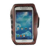 Sports Gym pouzdo na ruku pro velikost mobilu až 140 x 70 mm - červené