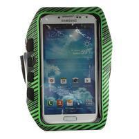 Sports Gym pouzdo na ruku pro velikost mobilu až 140 x 70 mm - zelené