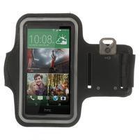 Černé Sports Gym pouzdo na ruku pro velikost mobilu až 150 x 70 mm