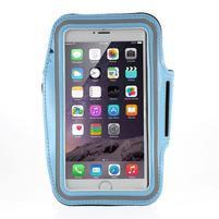Soft pouzdro na mobil vhodné pro telefony do 160 x 85 mm - světle modré