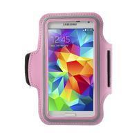 Fitsport pouzdro na ruku pro mobil do velikosti až 145 x 73 mm - růžové