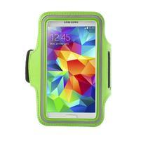 Fitsport pouzdro na ruku pro mobil do velikosti až 145 x 73 mm - zelené