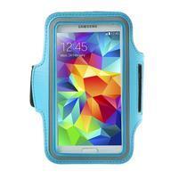 Fitsport pouzdro na ruku pro mobil do velikosti až 145 x 73 mm - světle modré