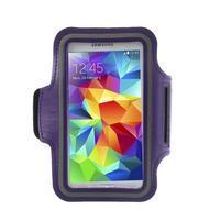 Fitsport pouzdro na ruku pro mobil do velikosti až 145 x 73 mm - fialové