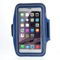 Soft pouzdro na mobil vhodné pro telefony do 160 x 85 mm - tmavě modré