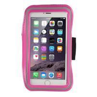 Soft pouzdro na mobil vhodné pro telefony do 160 x 85 mm - rose