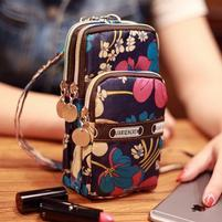 Funs mini kapsičkový batůžek pro mobily až do 160 x 80 mm a další předměty - květiny