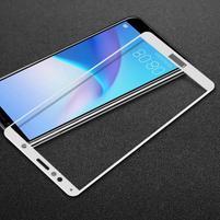 IMK celoplošné tvrzené sklo na Honor 7A a Huawei Y6 Prime (2018) - bílé