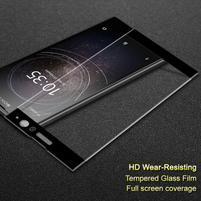 IMK celoplošné tvrzené sklo na Sony Xperia XA2 - černý lem