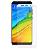 Cover celoplošné tvrzené sklo na Xiaomi Redmi 5 Plus - bílý lem