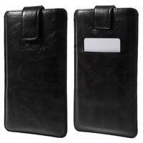Univerzální flipové pouzdro pro mobily do 150 x 85 mm - černé