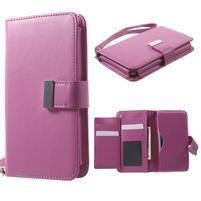 Luxusní univerzální pouzdro pro telefony do 140 x 70 x 12 mm - rose