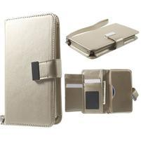 Luxusní univerzální pouzdro pro telefony do 140 x 70 x 12 mm - zlaté