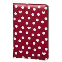 Dots univerzálny obal na tablet do rozmerov 25,6 cm s funkciou stojančeka - červený